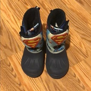 Superman snow boots